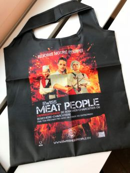 Sac à commissions pliable «Swiss Meat People»